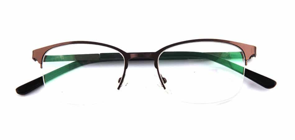 Brown Half Rimless Glasses 80422 1