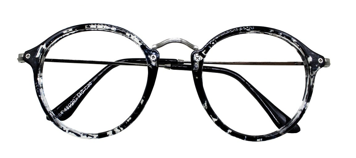 Black Round Glasses Sf 9857 1