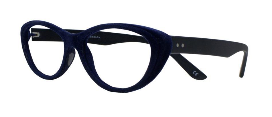 Blue Velvet Cat Eye Glasses 201123 2