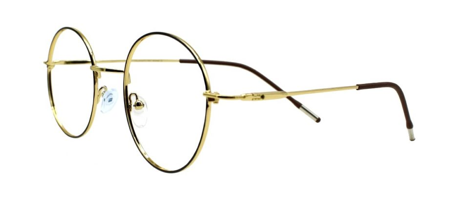 Golden Round Glasses 231117 4