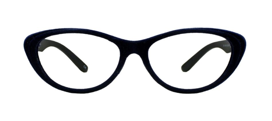 Blue Velvet Cat Eye Glasses 201123 3