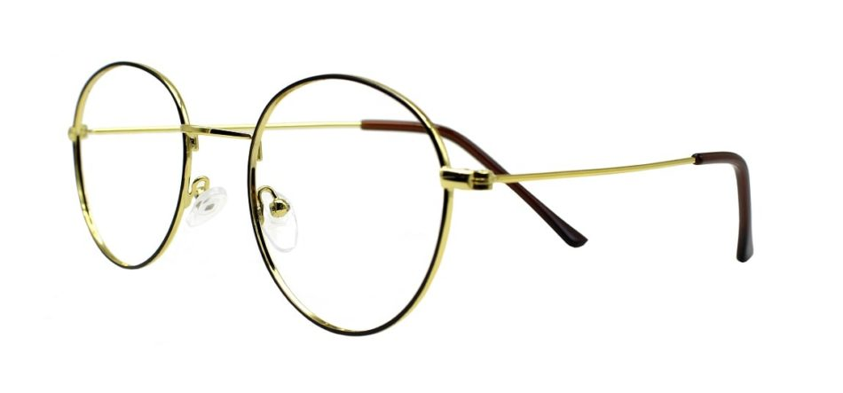Golden Round Glasses 241114 2