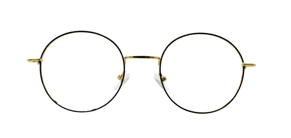 Golden Round Glasses 231117 3