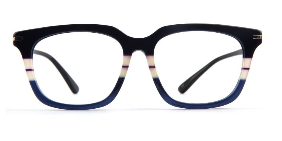 Blue Shunk Square Glasses 010826 3