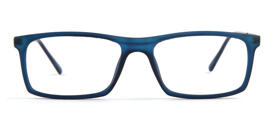 Blue Matte Square Glasses 010829 3