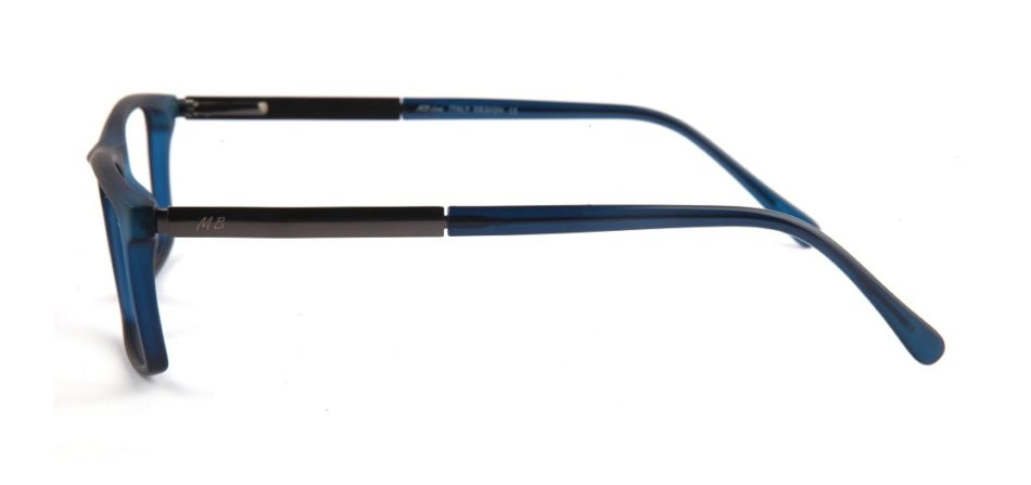 Blue Matte Square Glasses 010829 2