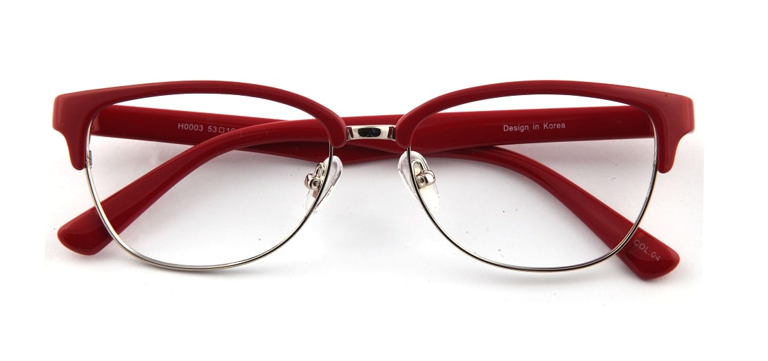 Red Browline Glasses 110157 1