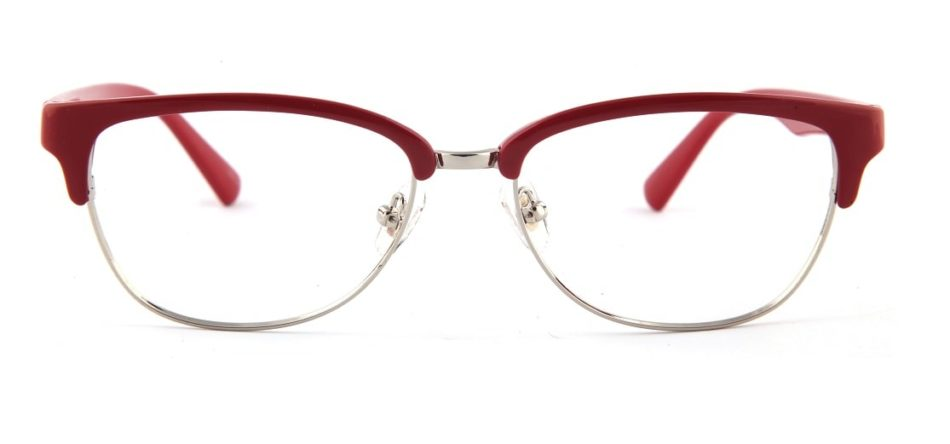 Red Browline Glasses 110157 2