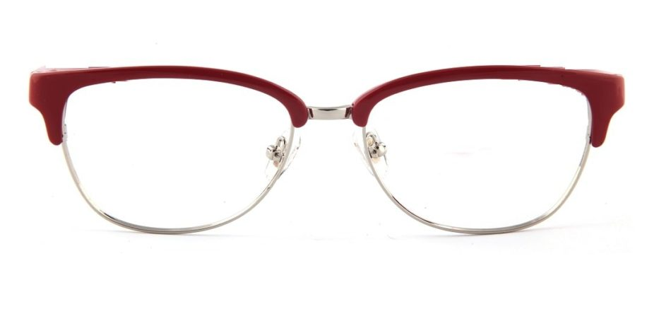 Red Browline Glasses 110157 3