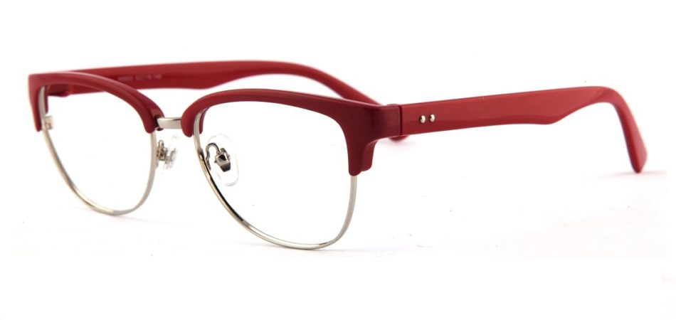 Red Browline Glasses 110157 4