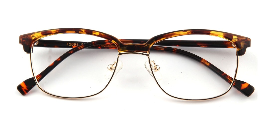 Brown Tortoise Browline Glasses 110147 1