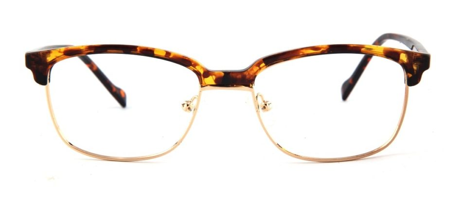 Brown Tortoise Browline Glasses 110147 2