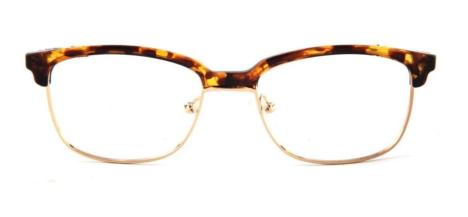 Brown Tortoise Browline Glasses 110147 3