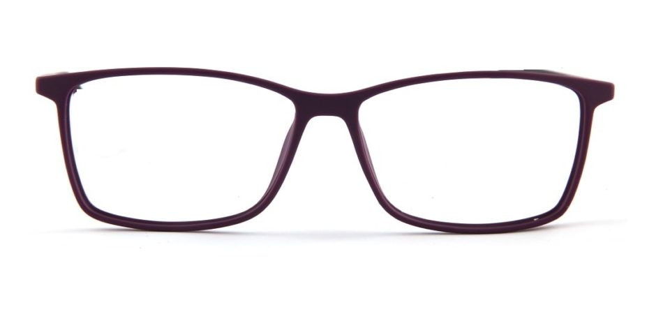 Purple Square Glasses 120157 3