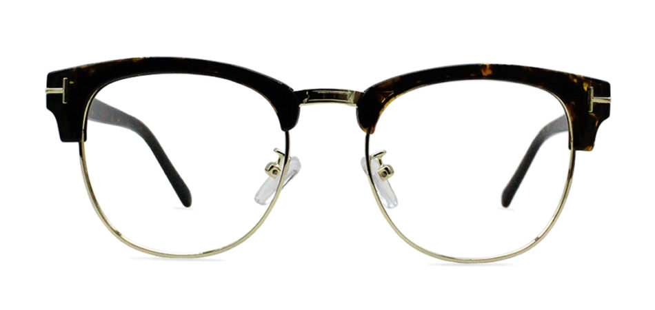 Brown Tortoise Browline Glasses 200435 3