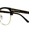 Brown Tortoise Browline Glasses 200435 6