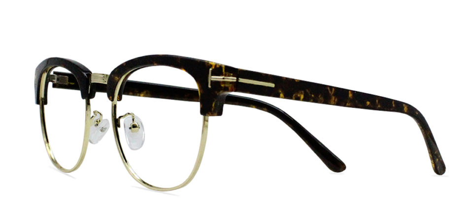 Brown Tortoise Browline Glasses 200435 2