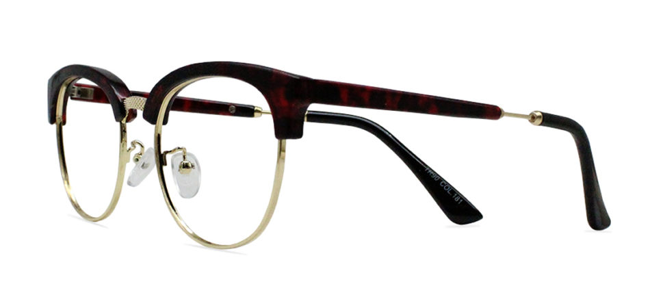 Red Tortoise Browline Glasses 200437 2