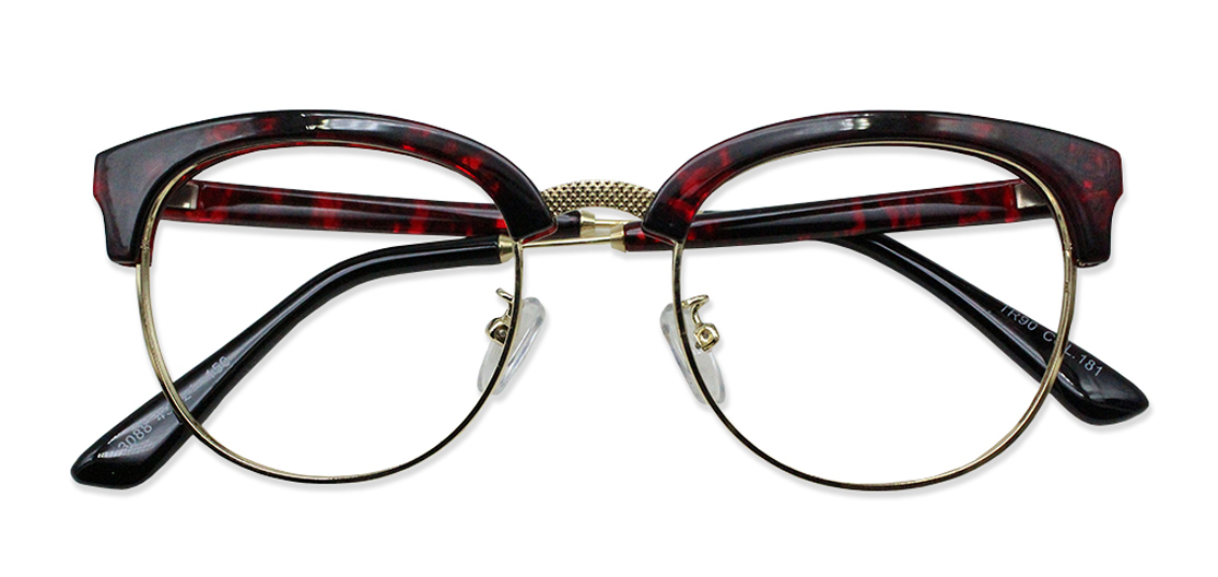 Red Tortoise Browline Glasses 200437 1