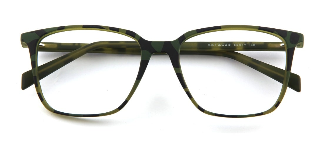 Green Tortoise Square Glasses 120135 1