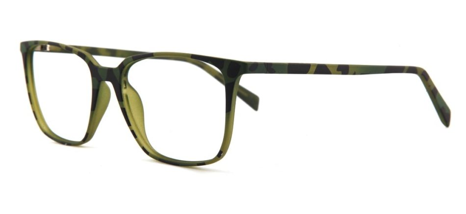 Green Tortoise Square Glasses 120135 2