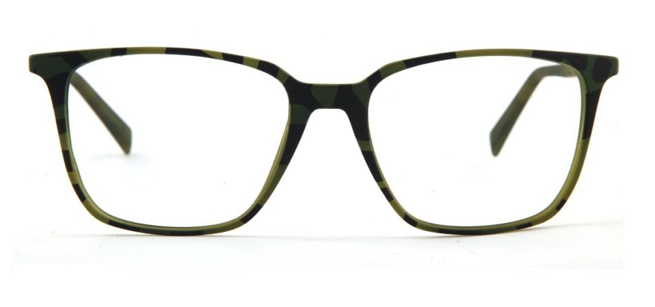 Green Tortoise Square Glasses 120135 3