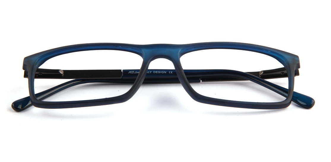 Blue Matte Square Glasses 010829 1