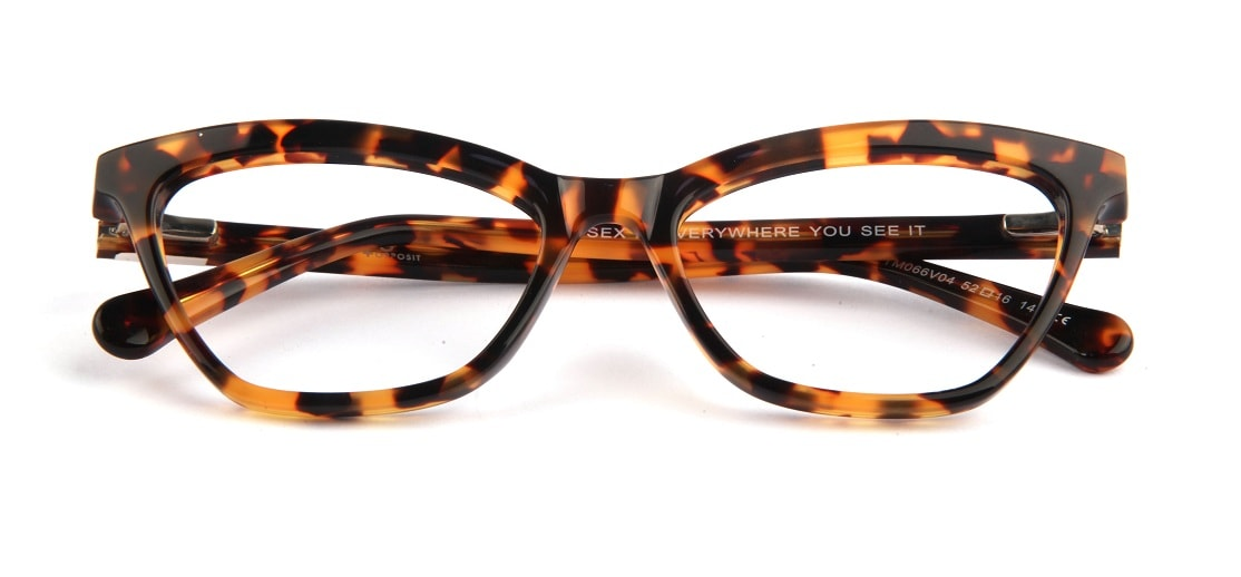Brown Cat-eye Glasses 050826 1