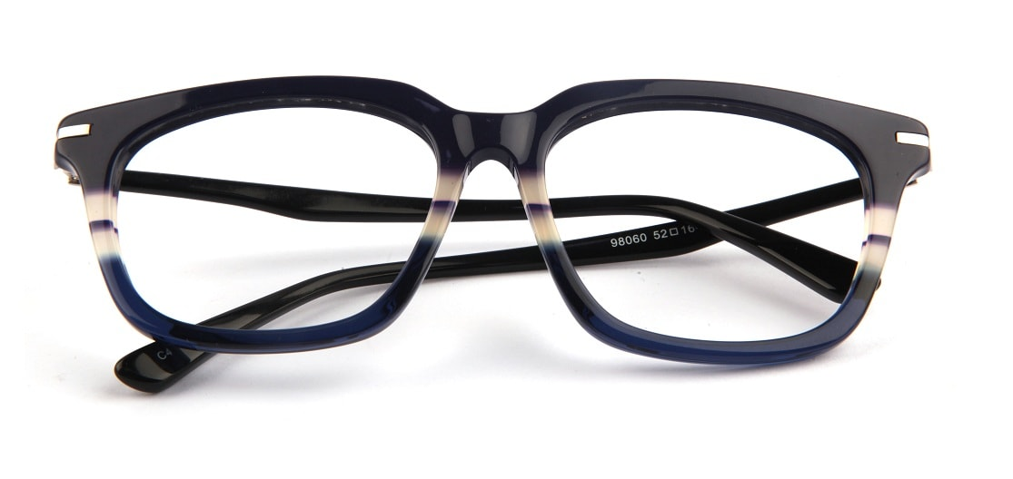 Blue Shunk Square Glasses 010826 1