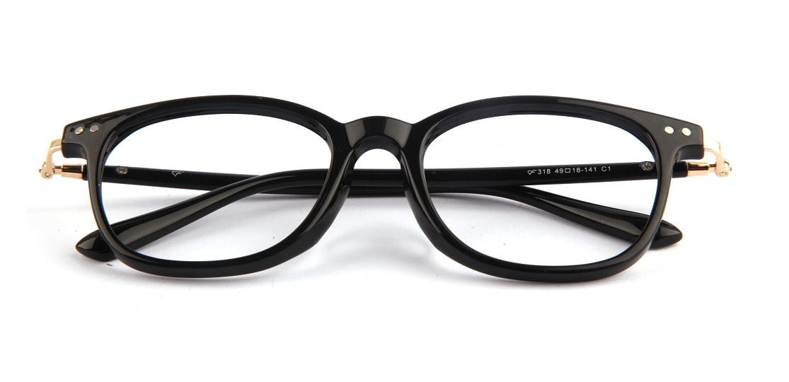Black Square Glasses 310716 1