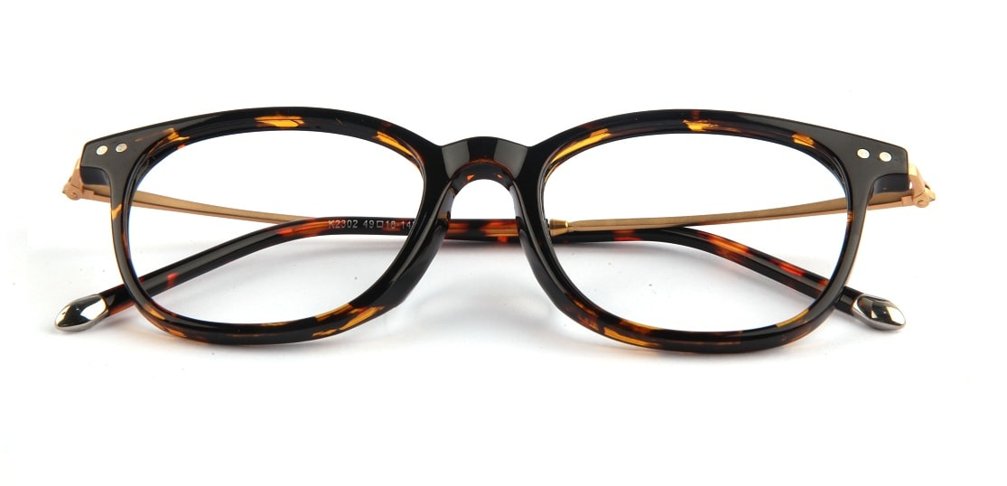 Brown Tortoise Square Glasses 050711 1