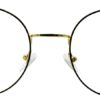 Golden Round Glasses 231117 6