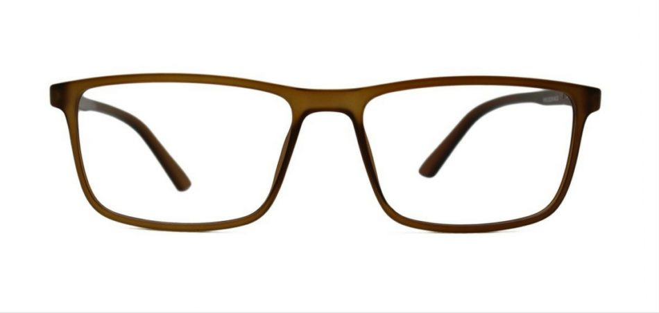 Brown Rectangle Glasses 26011 3