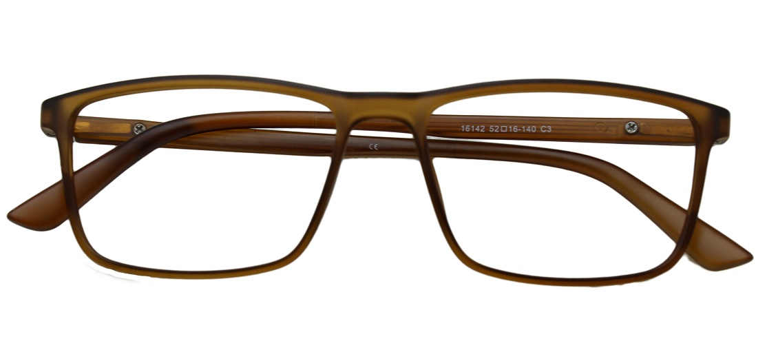 Brown Rectangle Glasses 26011 1
