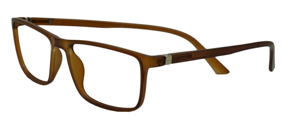 Brown Rectangle Glasses 26011 2