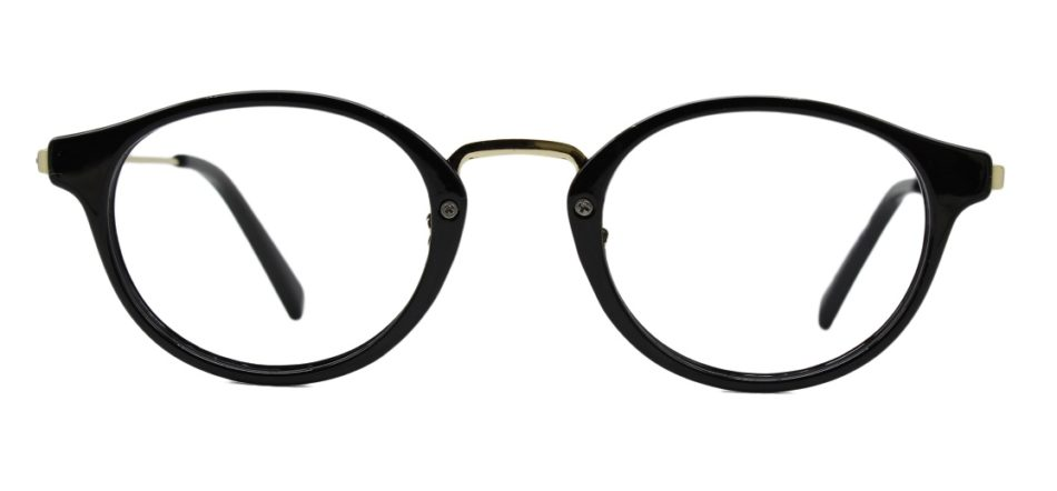 Black Round Glasses 26012 3