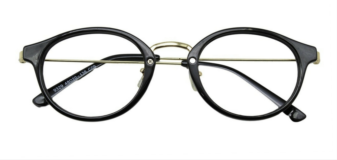 Black Round Glasses 26012 1