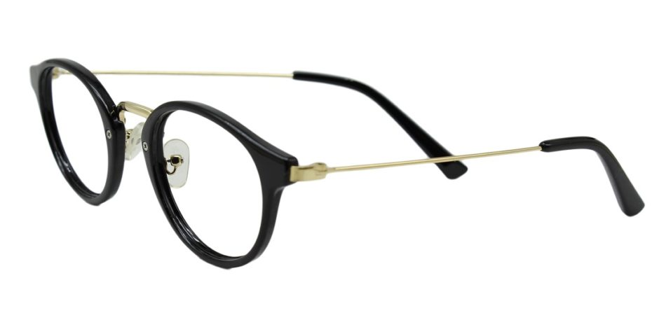 Black Round Glasses 26012 2