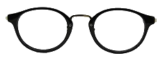 Black Round Glasses 26012 4