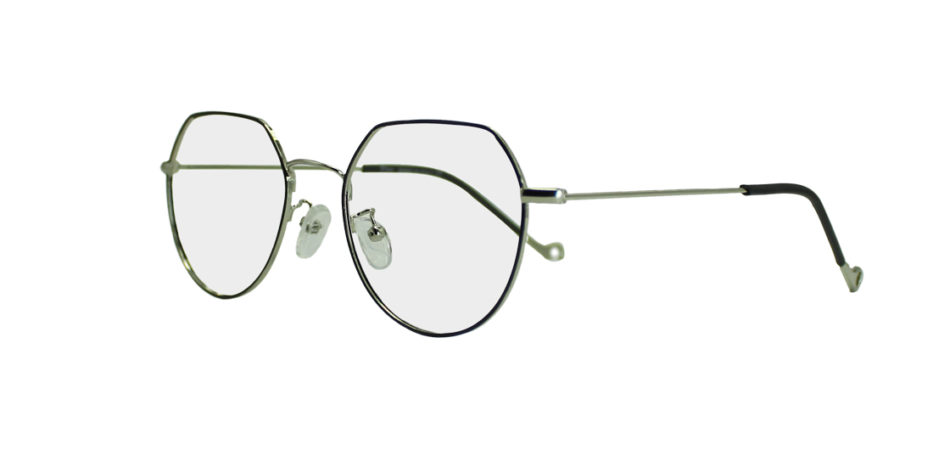 Silver Geometric Glasses 191009 2