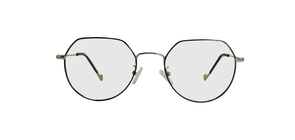 Silver Geometric Glasses 191009 3