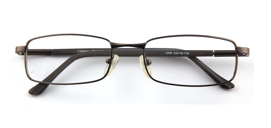 Grey Gun Metal Rectangle Glasses 110126 1