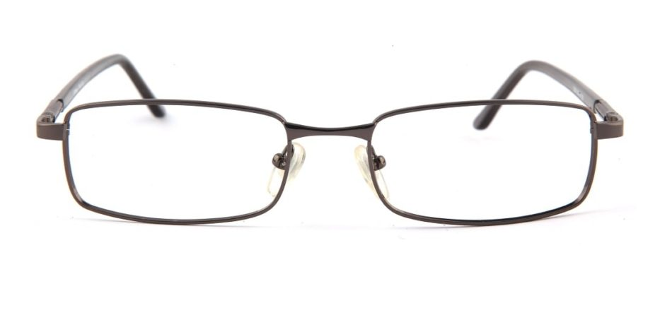 Grey Gun Metal Rectangle Glasses 110126 2