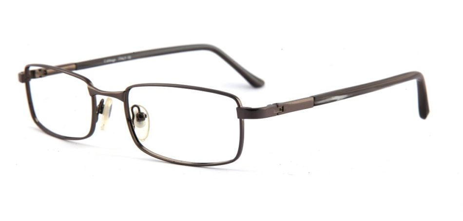 Grey Gun Metal Rectangle Glasses 110126 3
