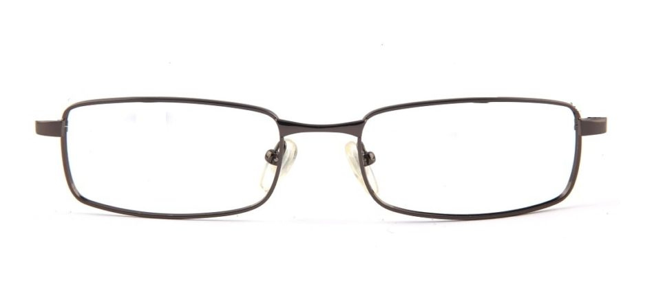Grey Gun Metal Rectangle Glasses 110126 4