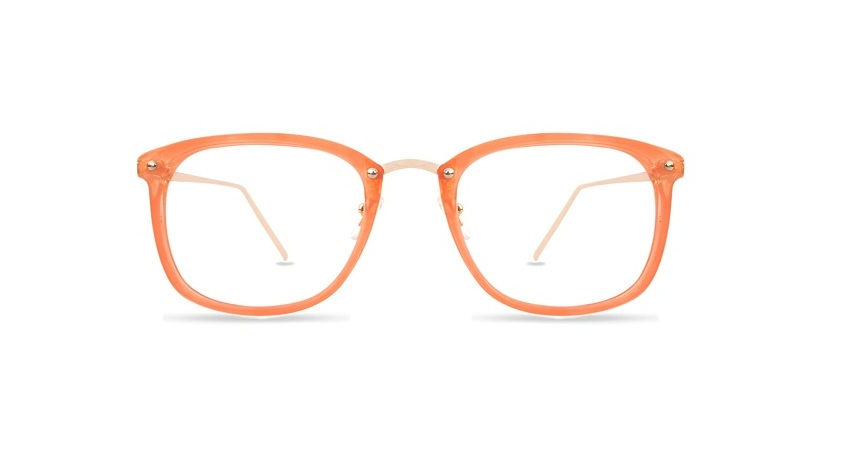 Orange Square Glasses Sf 9865 3