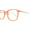 Orange Square Glasses Sf 9865 6