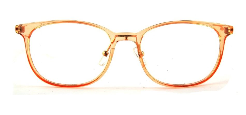 Orange Transparent Square Glasses 110124 4