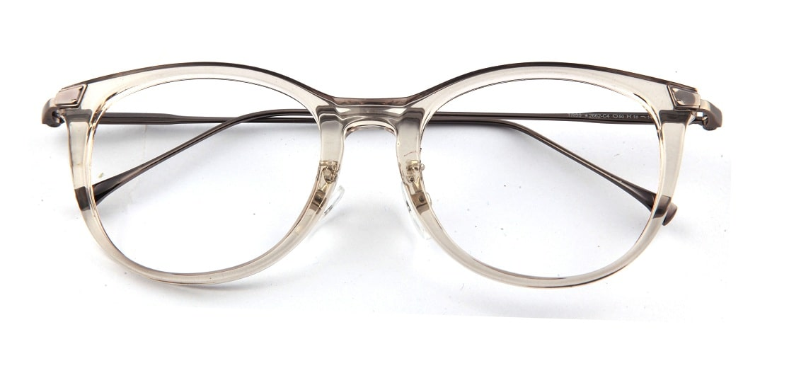 Grey Transparent Round Glasses 110121 1