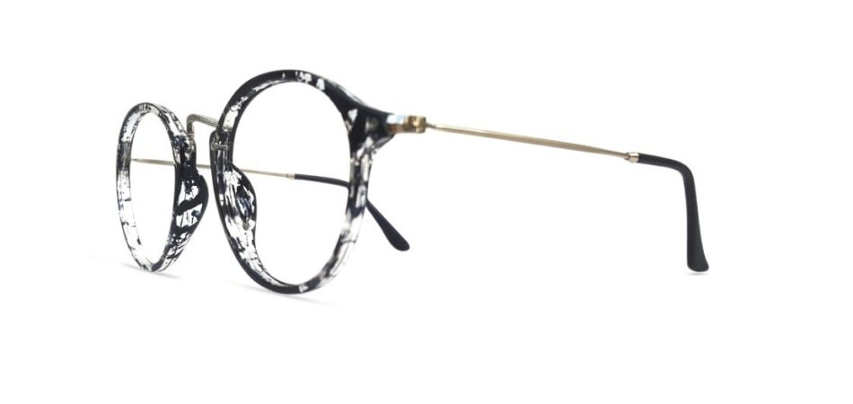 Black Round Glasses Sf 9857 2